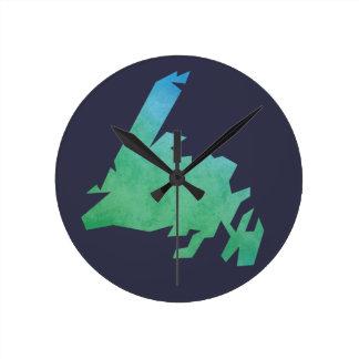 Newfoundland Map Clock