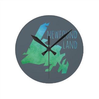 Newfoundland Map Wallclock