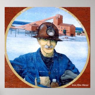 Newfoundland Miner Mural Poster