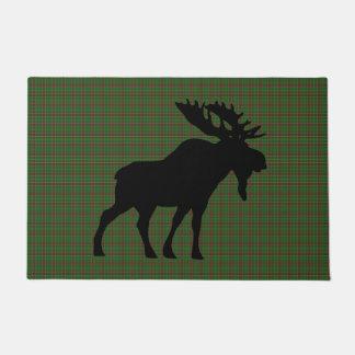 Newfoundland moose tartan welcome mat
