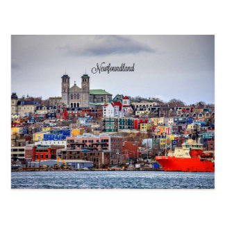 Newfoundland, panoramic cityscape photograph postcard