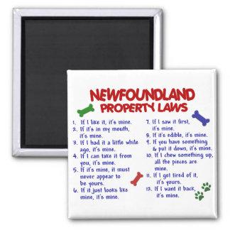 NEWFOUNDLAND Property Laws 2 Square Magnet