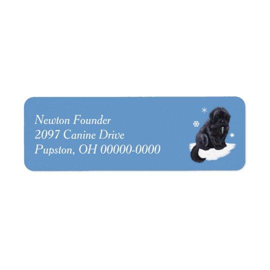 Newfoundland Puppy Return Address Label