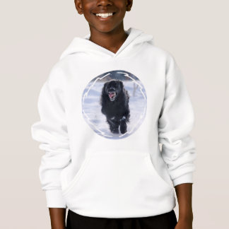 Newfoundland Running Children's Hooded Sweatshirt