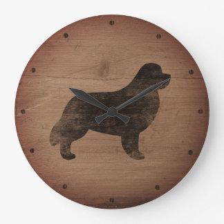 Newfoundland Silhouette Rustic Clock