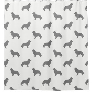 Newfoundland Silhouettes Pattern Shower Curtain