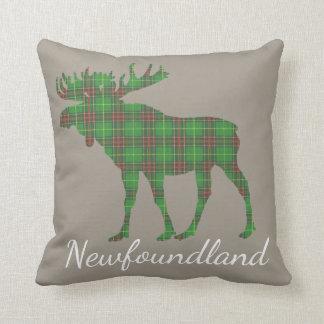 Newfoundland Tartan Custom Moose taupe pillow