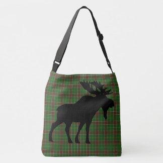 Newfoundland  Tartan moose Cross Bag