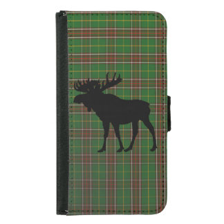 Newfoundland Tartan phone wallet moose