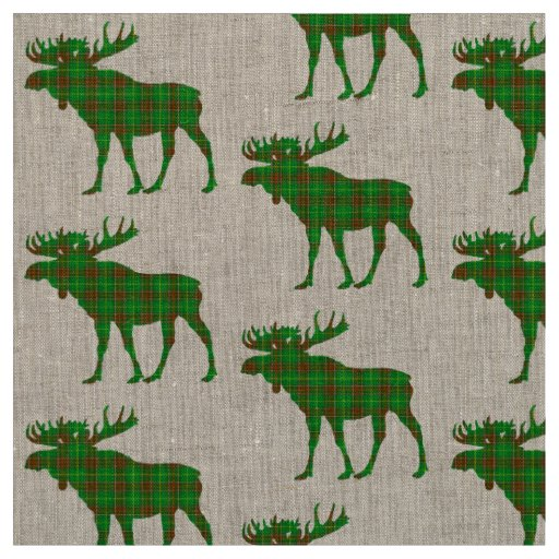 Newfoundland Tartan plaid moose fabric
