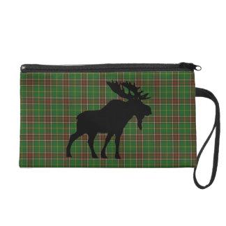 Newfoundland Tartan  Wristlet  purse moose