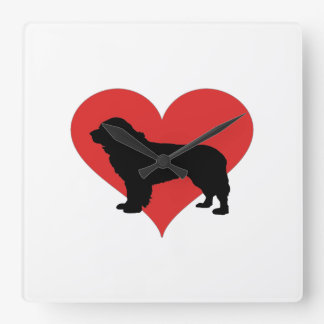 Newfoundland With A Big Red Heart Wallclock
