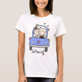Newleywed Just Married Stick Figures T-Shirt