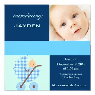 Newly Born Baby Boy Custom Invitations