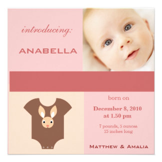 Newly Born Baby Girl Personalized Invite