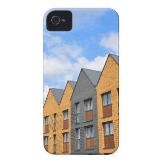 Newly built houses against blue sky iPhone 4 case