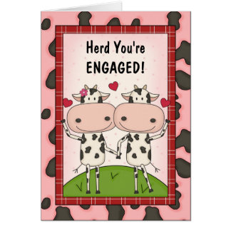 Newly Engaged Funny Cattle Greeting Card