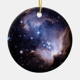 Newly Forming Stars Round Ceramic Decoration
