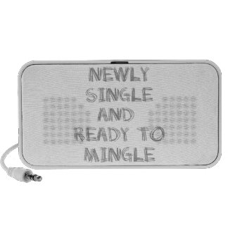 Newly Single and Ready to Mingle - 1 - Gray Laptop Speakers