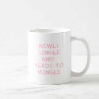Newly Single and Ready to Mingle - 1 - Pink Coffee Mug