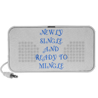 Newly Single and Ready to Mingle - 3 - Blue iPhone Speakers