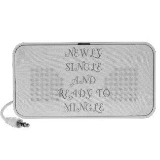 Newly Single and Ready to Mingle - 3 - Gray Notebook Speaker