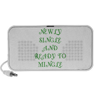 Newly Single and Ready to Mingle - 3 - Green iPod Speakers