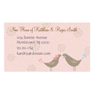 Newly Wed New Home Address Business Card Insert P