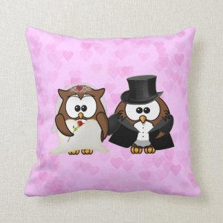 newly wed  owls cushion