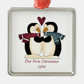 Newly Wed Penguin Love Ornament