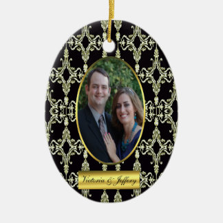 Newly Wed photo ornament