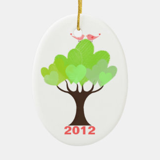 Newly Wed's Love Birds First Christmas Ornament