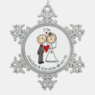Newlywed 1st Christmas Together Snowflake Ornament