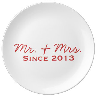 Newlywed 2013 Decorative Plate Porcelain Plates