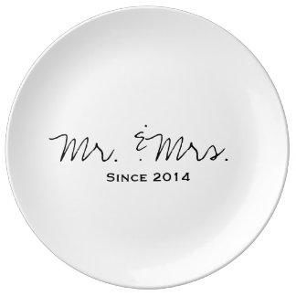 Newlywed 2014 Decorative Plate Porcelain Plate