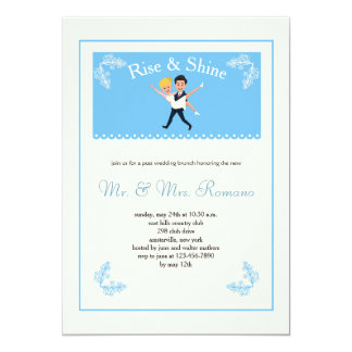 Newlywed Couple Post Wedding Brunch Invitation