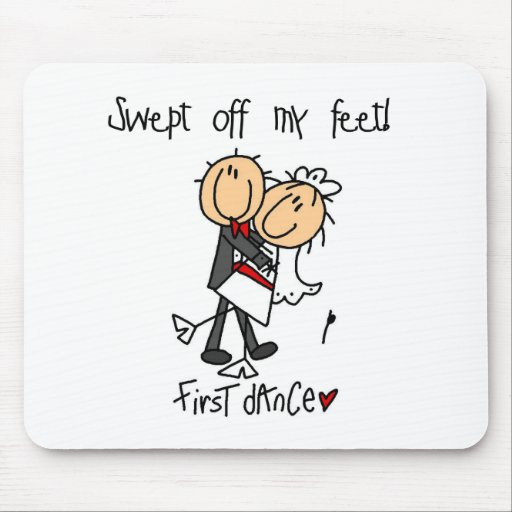 Newlywed First Dance Tshirts and Gifts Mouse Mat