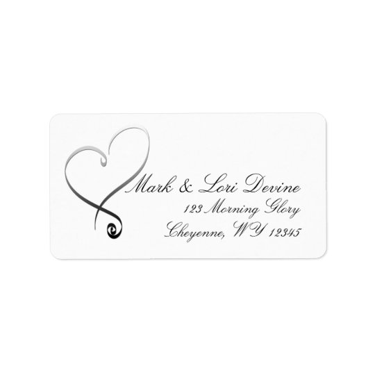 Newlywed Heart Designer labels