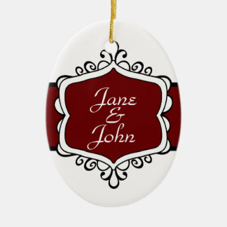 Newlywed s First Christmas Oval Ornament
