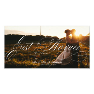 Newlywed Wedding Announcement Christmas Photo Card