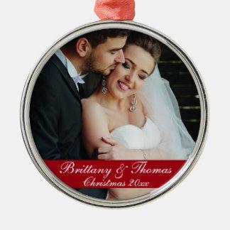 Newlywed Wedding Photo Christmas Ornament R
