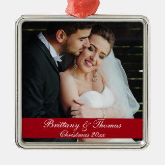 Newlywed Wedding Photo Christmas Ornament S