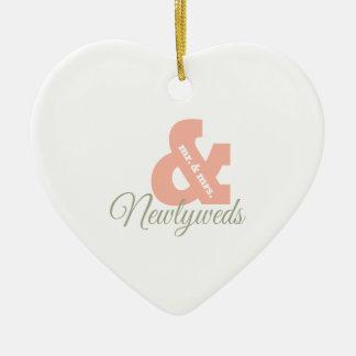 Newlyweds Ceramic Heart Decoration