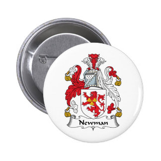 Newman Family Crest 6 Cm Round Badge