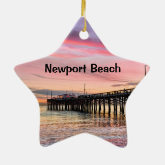 Newport Beach Balboa Pier Ceramic Ornament
