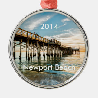 Newport Beach Balboa Pier Metal Ornament