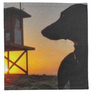 Newport Beach Sunset Napkin