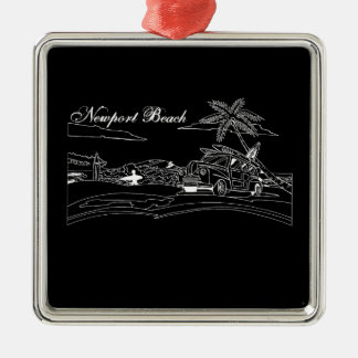 Newport Beach Surf Culture Metal Ornament