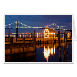 Newport Bridge Christmas Tree Holiday Card