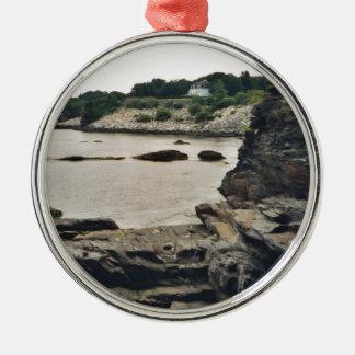 Newport Cliff Metal Ornament